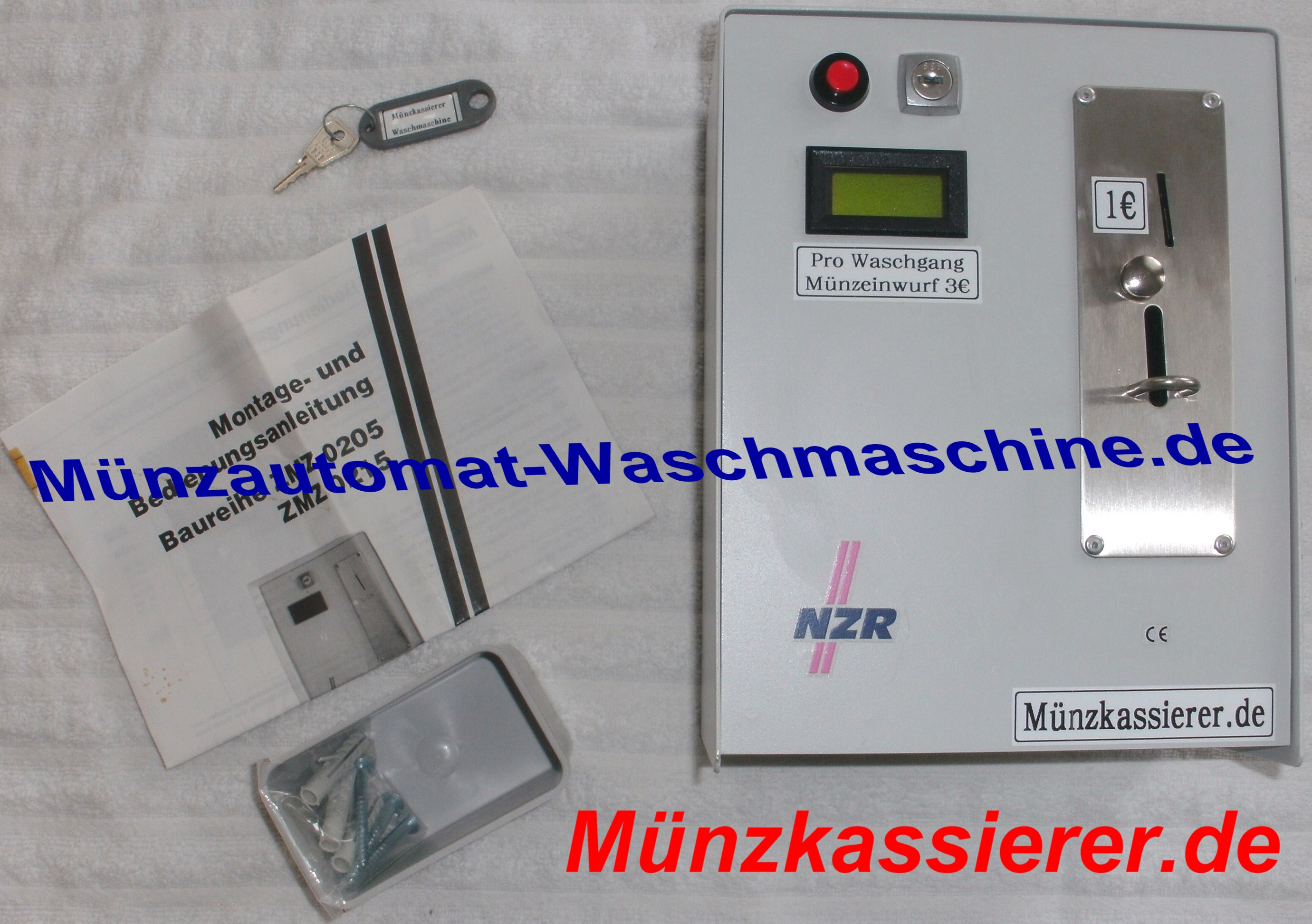 Nzr zmz münzautomat waschmaschine trockner